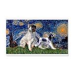 Starry Night / Min Schnauzer 20x12 Wall Decal