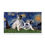 Starry Night / Min Schnauzer 20x12 Wall Decal