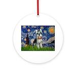 Starry Night /Schnauzer(#8) Ornament (Round)