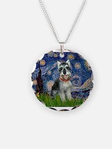 Starry Night /Schnauzer(#8) Necklace