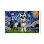 Starry Night /Schnauzer(#8) 20x12 Wall Decal
