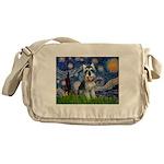 Starry Night /Schnauzer(#8) Messenger Bag