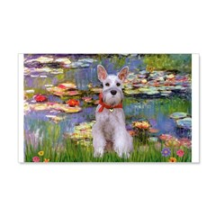 Lilies / M Schnauzer Wall Decal