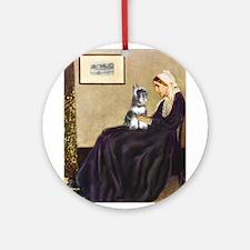 Whistler's Mother /Schnauzer Ornament (Round)