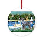 PS G. Schnauzer & Sailboats Ornament (Round)