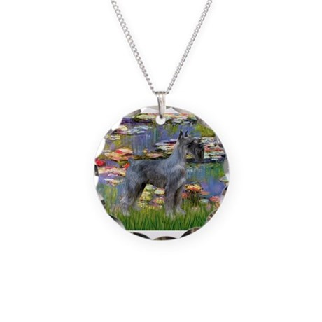 Lilies #2 & PS Giant Schnauze Necklace Circle Char