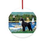 SCHNAUZER & SAILBOATS Ornament (Round)