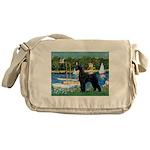 SCHNAUZER & SAILBOATS Messenger Bag