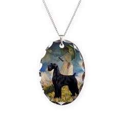Umbrella/Giant Schnauzer (black) Necklace