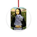 Mona /Scot Deerhound Ornament (Round)