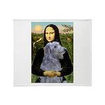 Mona /Scot Deerhound Throw Blanket