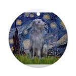 Starry /Scot Deerhound Ornament (Round)