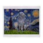 Starry /Scot Deerhound Throw Blanket