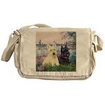 Seine / Scotties (b&w) Messenger Bag