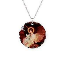 Angel / Scottie (w) Necklace Circle Charm