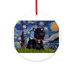 Starry / Scotty(bl) Ornament (Round)