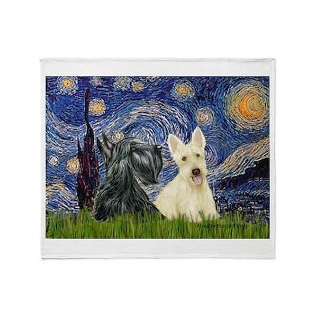 Starry /Scotty pair Throw Blanket