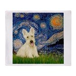 Starry Night / Scottie (w) Throw Blanket