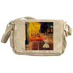 Cafe / Scottie (w) Messenger Bag
