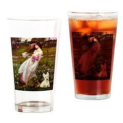Windflowers / Scottie (w) Drinking Glass