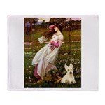 Windflowers / Scottie (w) Throw Blanket