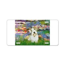 Lilies (#2)/Sealyham L2 Aluminum License Plate