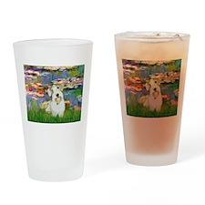 Lilies (#2)/Sealyham L2 Drinking Glass