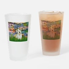 Lilies (#2)/Sealyham L2 Drinking Glass