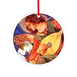 Angel/Sealyham L1 Ornament (Round)