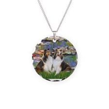Lilies #2 / Two Shelties Necklace