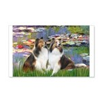Lilies #2 / Two Shelties 20x12 Wall Decal