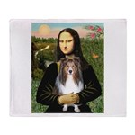 Mona Lisa's Sheltie (S) Throw Blanket