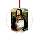 Mona's Sable Sheltie Ornament (Round)