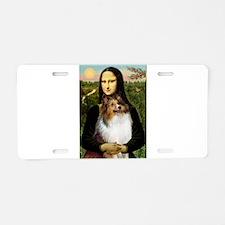 Mona's Sable Sheltie Aluminum License Plate