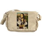 Mona Lisa / 2 Shelties (DL) Messenger Bag