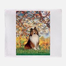 Spring / Sheltie (#1) Throw Blanket