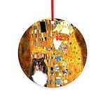 Kiss/Tri Color Sheltie Ornament (Round)
