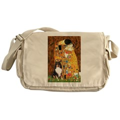 Kiss/Tri Color Sheltie Messenger Bag