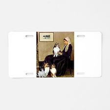 Whistler's / 3 Shelties Aluminum License Plate