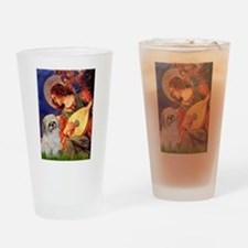 Angel3/Shih Tzu (P) Drinking Glass