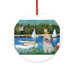 Bassin/Shih Tzu (P) Ornament (Round)