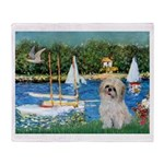 Bassin/Shih Tzu (P) Throw Blanket