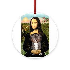 Mona / Shih Tzu(br&w) Ornament (Round)