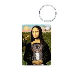 Mona / Shih Tzu(br&w) Keychains
