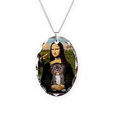 Mona / Shih Tzu(br&w) Necklace