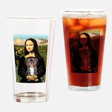 Mona / Shih Tzu(br&w) Drinking Glass