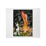 Mid.Eve / Siberian Husky Throw Blanket