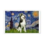 Starry Night & Husky 20x12 Wall Decal