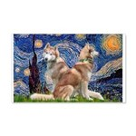 Starry Night Red Husky Pair 20x12 Wall Decal