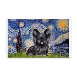 Starry / Black Skye Terrier 20x12 Wall Decal